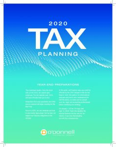 2020 Tax Planning Year End Preparations