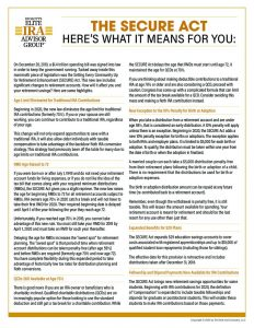 The SECURE Act What It Means For You